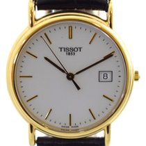 Tissot Carson pre-owned 27mm White Date Leather