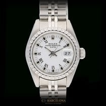 Rolex Acero Automático Blanco 26mm usados Oyster Perpetual Lady Date