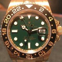 Rolex Sárgaarany Automata Zöld Számjegyek nélkül 40mm használt GMT-Master II