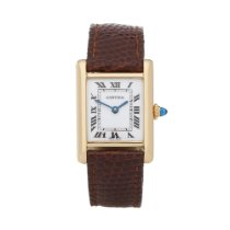 Cartier Tank (submodel) Geelgoud 20mm Wit Romeins