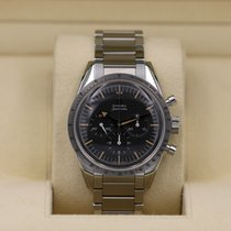 Omega pre-owned Manual winding 38.6mm Black Plexiglass 6 ATM