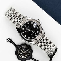 Rolex pre-owned Automatic 31mm Black Sapphire Glass