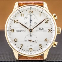IWC Portuguese Chronograph Rose gold 40.9mm Silver Arabic numerals United States of America, Massachusetts, Boston