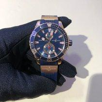 雅典 新的 自動發條 螢光指針 旋轉式錶圈 螺擰式錶冠 螢光刻度 44mm 玫瑰金 藍寶石玻璃