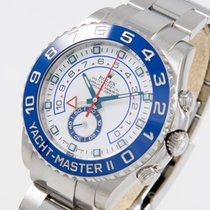 Rolex Yachtmaster II Regatta Stahl LC 200 top condition box...