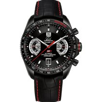 TAG Heuer Grand Carrera CAV518B.FC6237- TAGHEUER Watch 43mm Black Dial Red Details new