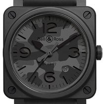 Bell & Ross Ceramic Automatic Grey 42mm new BR 03