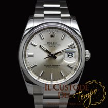 Rolex Oyster Perpetual Date 115200 Silver Full Set