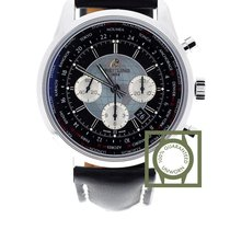 Breitling Transocean Chronograph Unitime Black Dial Black...