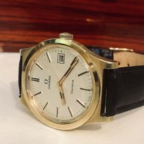 Omega Geneve gold Mechanical 1970's men's vintage watch + Box