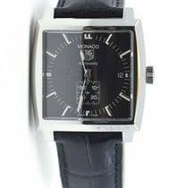 TAG Heuer Monaco Calibre 6 Steel 37mm Black No numerals United States of America, New York, New York