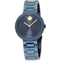 Movado Bold Staal 34mm Blauw
