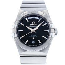 Omega Constellation Day-Date Staal 38mm Zwart