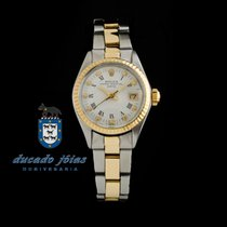 Rolex Lady-Datejust Zlato/Zeljezo 26mm Bjel Rimski brojevi