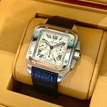 Cartier Santos 100 Steel 38mm Silver Roman numerals United States of America, New York, New York