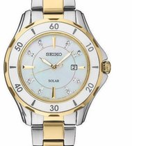 Seiko Solar Steel 33mm Mother of pearl