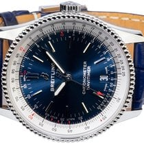 Breitling Navitimer Steel 38,00mm Blue No numerals