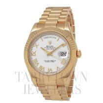 Rolex Day-Date II Yellow gold 41mm White Roman numerals