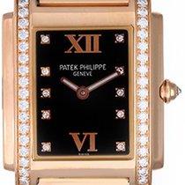 Patek Philippe Twenty-4 Ladies 18k Rose Gold Diamond Watch...