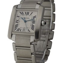 Cartier W51002Q3 Tank Francaise - Large Size in Steel - on...