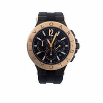 Bulgari Bvlgari Black 18K Rose Gold Diagono Ultranero Chronograph