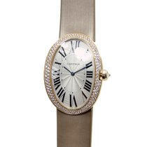 Cartier Bathtub 18 K Rose Gold With Diamonds Silver Automatic...