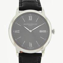 Baume & Mercier Classima 42mm Date Grey Dial Black Leather Strap