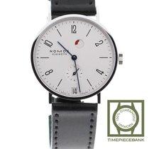 NOMOS Tangente Gangreserve Steel 35mm White Arabic numerals