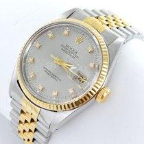 Rolex Datejust Herren Uhr Mit Diamanten Stahl Gold Ref 16013 Fur