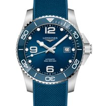 Longines HydroConquest Steel 41mm Blue Arabic numerals