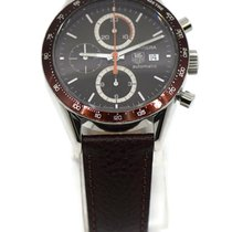 TAG Heuer Carrera Calibre 16 pre-owned 41mm Brown Chronograph Date Leather