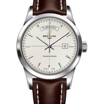Breitling Transocean Day & Date Acero