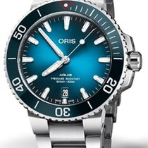 Oris Aquis Date new 2019 Automatic Watch with original box and original papers 01 733 7732 4185-Set
