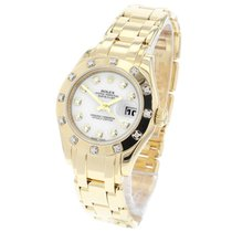 Rolex Lady-Datejust Pearlmaster Yellow gold 29mm White United Kingdom, London
