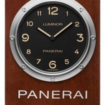 Panerai Table Clock Stal Czarny