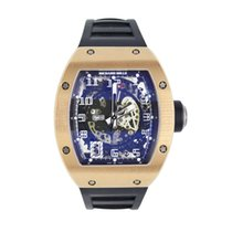 Richard Mille RM 010 Rose gold Transparent Arabic numerals