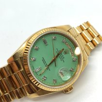 Rolex Day-Date 36 Yellow gold 36mm Green No numerals UAE, Abu Dhabi
