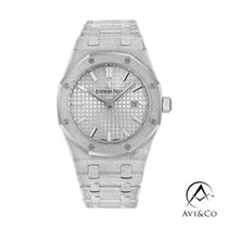 Audemars Piguet Witgoud Quartz Zilver Geen cijfers 33mm tweedehands Royal Oak Lady