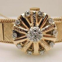 Ladies Vintage Geneva Flip Lid 14K Yellow Gold  Watch  With...