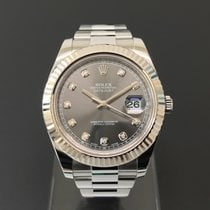 Rolex Datejust 41mm Rhodium Diamond Dial