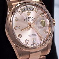 Rolex President Day-date New Style 18k Rose Gold Fact Diamond...