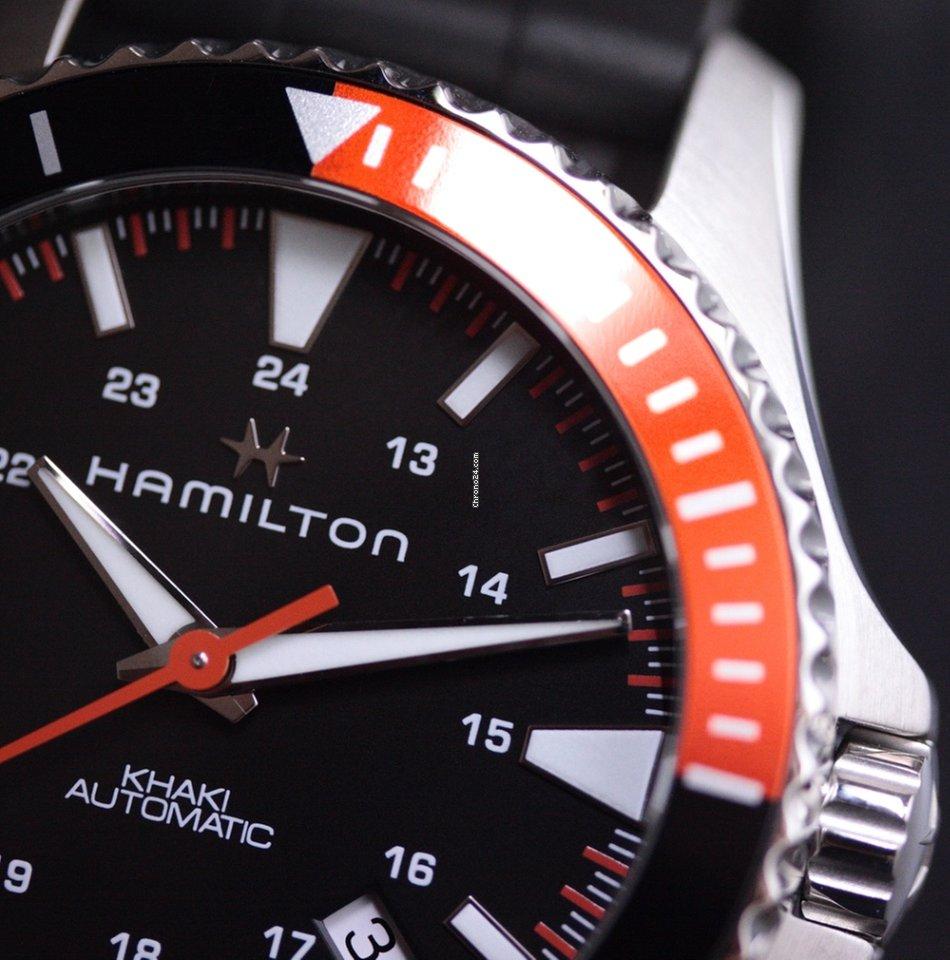 Hamilton Khaki Navy Scuba Automatic Steel Rubber Black H82305331