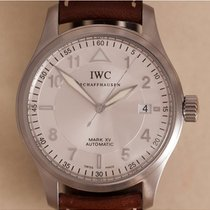 IWC Pilot Mark tweedehands 38mm Zilver Datum Leer