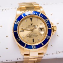 Rolex Submariner Date Yellow gold 40mm Blue No numerals United Kingdom, Macclesfield