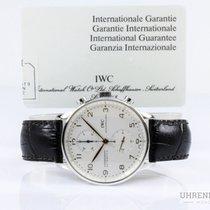 IWC Portugieser Chronograph gebraucht 41mm Chronograph Leder