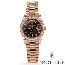Rolex Day-Date 40 Rose gold 40mm Brown No numerals United States of America, Texas, Dallas