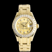 勞力士 Lady-Datejust Pearlmaster 黃金 29mm 香檳色