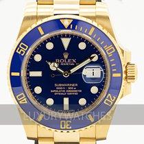 Rolex Submariner Date Yellow gold 40mm Blue