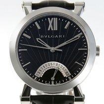 Bulgari Sotirio pre-owned 42mm Black Date Leather