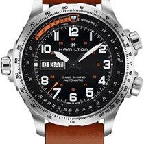 Hamilton Khaki X-Wind nuevo 2020 Automático Cronógrafo Reloj con estuche y documentos originales H77755533